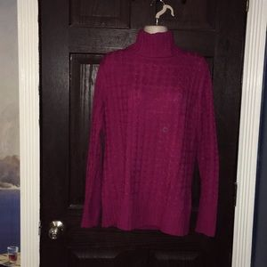 NY&Co Hot Pink Berry Turtleneck Sweater XL SlimFit